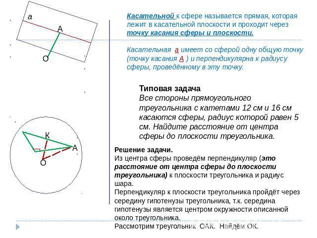 Задачи по сфере и шару с решением решение задачи расхождения