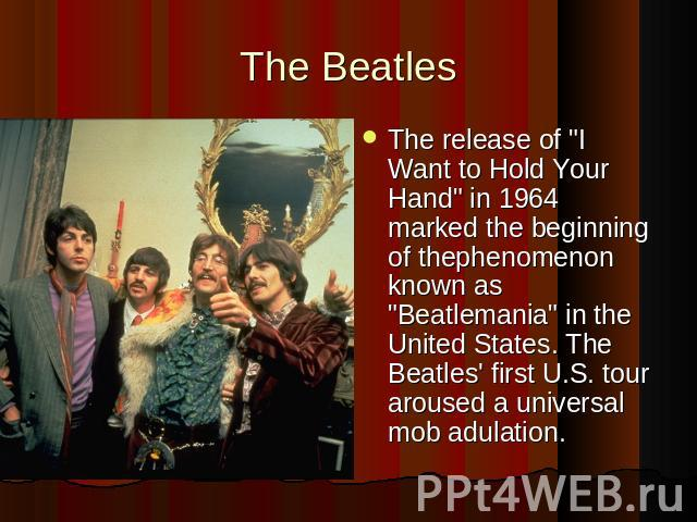The BeatlesThe release of