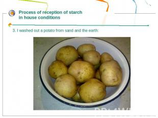 Process of reception of starch in house conditions3. I washed out a potato from