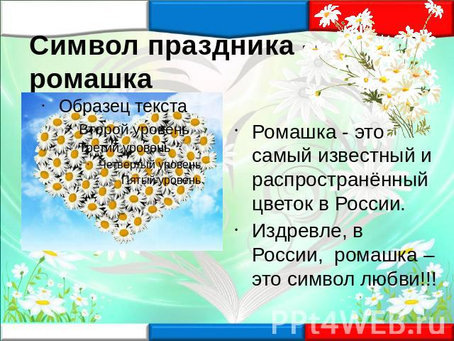ромашка символ россии картинки