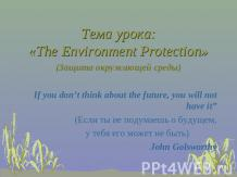 The Environment Protection