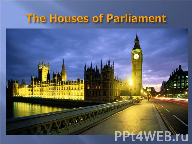 "The Houses of Parliament They are long grey buildings with towers. The large clock in one of the towers is ""Big Ben"". You can hear the sound of ""Big Ben"" every hour in London The clock and the bell got their names after Sir Benjamin Hall. The member…"