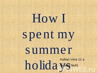how i spend your summer holidays to kerala Please take my friendly salute i got your letter yesterday in which you about how you spend your summer at home doing my holiday homework.