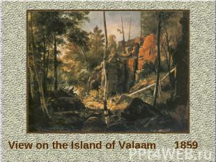 View on the Island of Valaam 1859