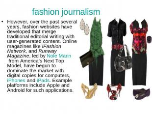 fashion journalism However, over the past several years, fashion websites have d