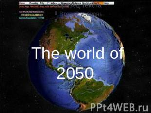 The world of 2050