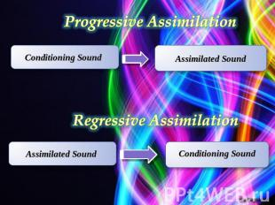 Progressive Assimilation Regressive Assimilation Conditioning Sound Assimilated