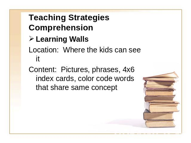 teaching strategies for reading comprehension Within this page,the complex processes involved in reading comprehension are divided into three categories (much like the national reading panel report.