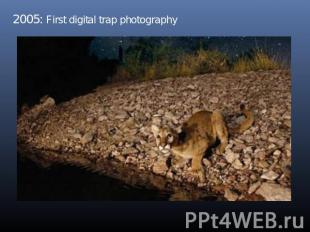 2005: First digital trap photography