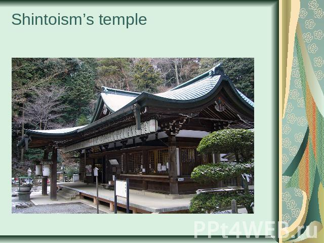 Shintoism's temple