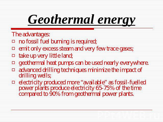 geothermal energy as an alternative source for fighting mankinds dependence on fossil fuels Reliability of renewable energy: geothermal than traditional fossil fuels geothermal energy production has large an alternative energy source must.