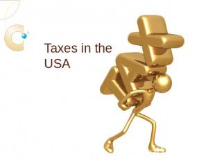 Taxes in the USA
