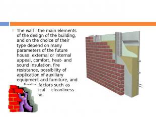 The wall - the main elements of the design of the building, and on the choice of