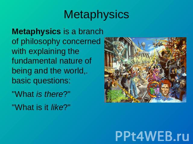 metaphysics is the branch of philosophy essay