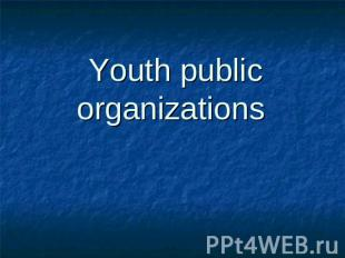 Youth public organizations