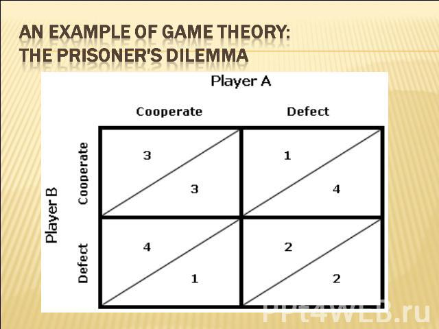 An Example of Game Theory: The Prisoner's Dilemma