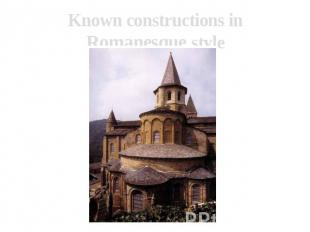 Known constructions in Romanesque style